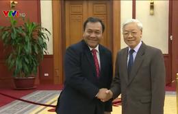 Tổng Bí thư Nguyễn Phú Trọng tiếp Đại sứ Campuchia