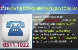Đà Nẵng: Tra cứu điểm thi tốt nghiệp THPT qua tổng đài 1022