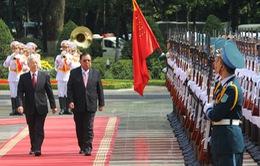 Tổng Bí thư Nguyễn Phú Trọng tiếp Tổng Bí thư, Chủ tịch nước Lào