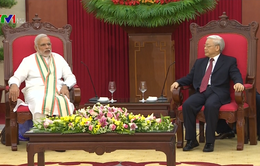 Tổng Bí thư Nguyễn Phú Trọng tiếp Thủ tướng Ấn Độ