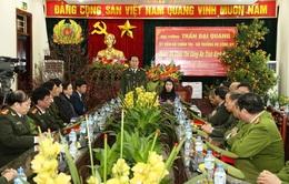 Bộ trưởng Bộ Công an Trần Đại Quang thăm và chúc Tết Công an tỉnh Vĩnh Phúc