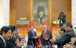 Chủ tịch nước hội đàm Tổng thống Peru Kuczynski