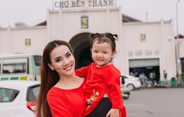 Ngắm bộ ảnh đón Tết của người đẹp Trang Nhung và con gái cưng
