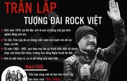"""[INFOGRAPHIC] Trần Lập - Chân dung """"người anh cả"""" của rock Việt"""