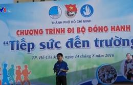 """Hàng ngàn thanh niên tình nguyện TP.HCM đi bộ đồng hành """"Tiếp sức đến trường"""""""