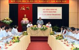 Thủ tướng làm việc với Lãnh đạo tỉnh Quảng Ngãi