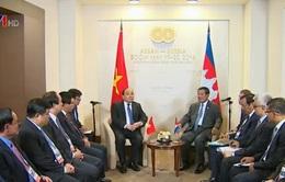 Thủ tướng hội kiến Thủ tướng Hun Sen