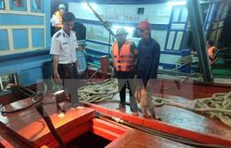 Bắt giữ 2 tàu mua bán dầu trái phép trên vùng biển Trà Vinh