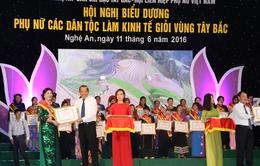 Hội nghị biểu dương phụ nữ các dân tộc làm kinh tế giỏi vùng Tây Bắc