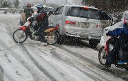 Đảm bảo an toàn giao thông trong giá rét, băng tuyết