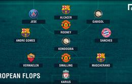 """Đội hình """"bom xịt"""" mùa giải 2016/17: Loạt sao Man Utd, Barca góp mặt"""