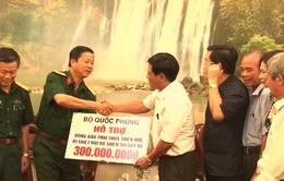 Bộ Quốc phòng hỗ trợ khắc phục hậu quả lũ lụt miền Trung