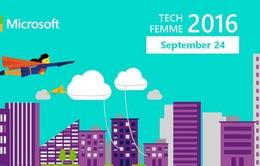 Microsoft TechFemme 2016 khơi dậy niềm đam mê CNTT của các nữ sinh
