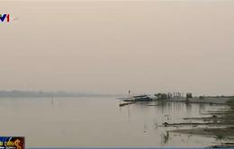 Mực nước sông Mekong tại Vientiane đã lên