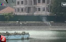Báo động tình trạng công viên Thành Công bị lấn chiếm