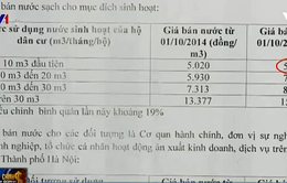Vụ hóa đơn nước 19 triệu đồng/tháng: Có dấu hiệu mập mờ trong cách tính giá nước?
