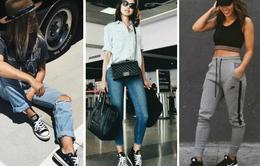 Biến hóa phong cách đa dạng với giày sneaker đen