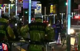 Đường phố tại Nhật Bản tiếp tục sụt lún