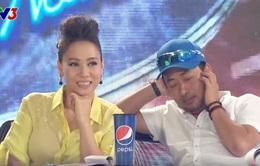 Vietnam Idol: Thu Minh sợ hãi, Quang Dũng bịt tai trước chàng trai cơ bắp