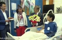 Công Phượng mừng sinh nhật lần thứ 21 trong bệnh viện