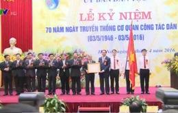 70 năm truyền thống cơ quan công tác dân tộc