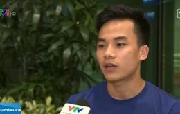 VĐV Thanh Ngưng hào hứng trở về sau khi giành vé dự Olympic 2016