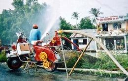 Độc đáo xe Vespa chữa cháy