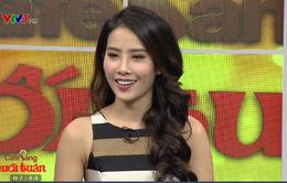 Hoa khôi Nam Em xuất hiện quyến rũ trong Café Sáng với VTV3