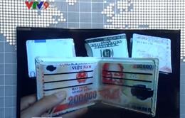 Tràn lan quảng cáo rao bán ví in hình tiền trên mạng xã hội
