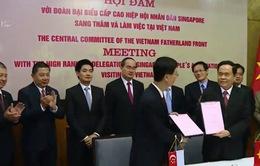 Ủy ban Trung ương Mặt trận Tổ quốc Việt Nam tăng cường hợp tác với Hiệp hội Nhân dân Singapore