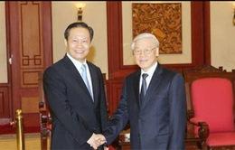 Tổng Bí thư tiếp Bí thư Đảng ủy Khu tự trị dân tộc Choang Quảng Tây, Trung Quốc