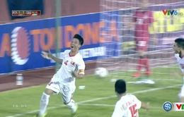 VIDEO: Tiến Dũng đánh đầu tung lưới U21 Thái Lan