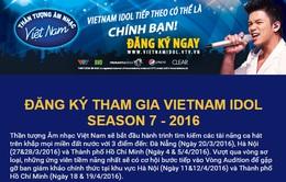 Cách thức đăng ký tham gia Vietnam Idol 2016