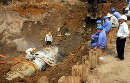 Khắc phục sự cố vỡ tuyến ống chuyển tải Nhà máy nước BOO Đồng Tâm