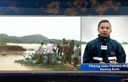 Vỡ đê Bắc Trạch ở Quảng Bình
