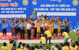 Bốc thăm VCK U17 Quốc gia 2016: Viettel, HAGL và SLNA chung bảng đấu