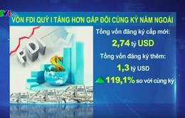 Quý I/2016: Vốn FDI tăng hơn gấp đôi