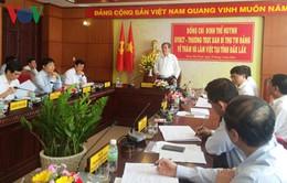 Thường trực Ban Bí thư Đinh Thế Huynh làm việc với Tỉnh ủy Đăk Lăk