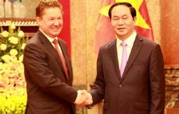 Chủ tịch nước tiếp Chủ tịch Tập đoàn Dầu khí Gazprom