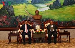 Lãnh đạo Lào tiếp Đoàn đại biểu cấp cao Ban Tổ chức Trung ương