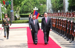 Chủ tịch nước bắt đầu chuyến thăm cấp Nhà nước CHDCND Lào