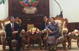 Thường trực Ban Bí thư Đinh Thế Huynh hội kiến Chủ tịch Quốc hội Lào