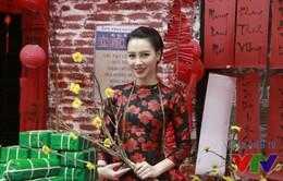 MC Minh Hà đẹp dịu dàng trong không gian Tết cổ truyền