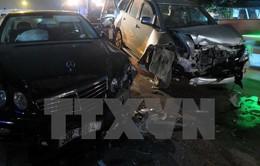 Tai nạn liên hoàn giữa 3 xe ô tô khiến Quốc lộ 2 ách tắc nhiều giờ