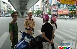 Hà Nội tăng cường xử phạt xe vi phạm