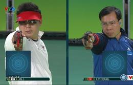 VIDEO: Xem lại loạt bắn giành huy chương bạc 50m súng ngắn bắn chậm của Hoàng Xuân Vinh!