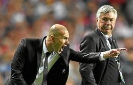 Ancelotti phục trò cũ Zidane sát đất