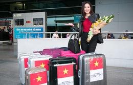 Diệu Ngọc lên đường thi Miss World với... 1 tạ hành lý