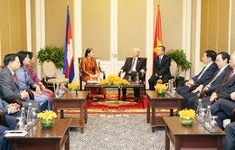 Tổng Bí thư tiếp Đoàn đại biểu Hội Hữu nghị và Nhóm Nghị sĩ hữu nghị Campuchia - Việt Nam