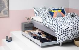 Biến gầm giường thành nơi chứa đồ độc đáo